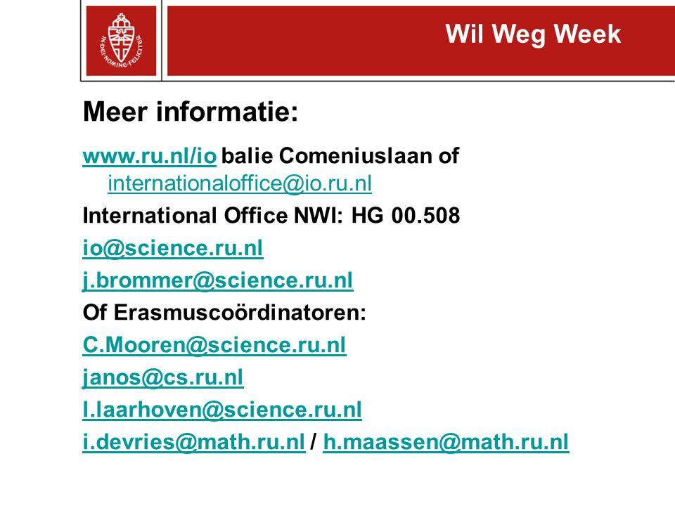 Meer informatie: Wil Weg Week