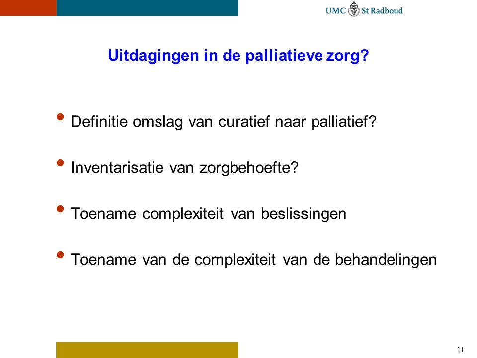 Uitdagingen in de palliatieve zorg