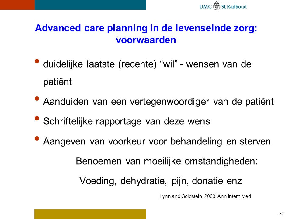Advanced care planning: voorbeelden