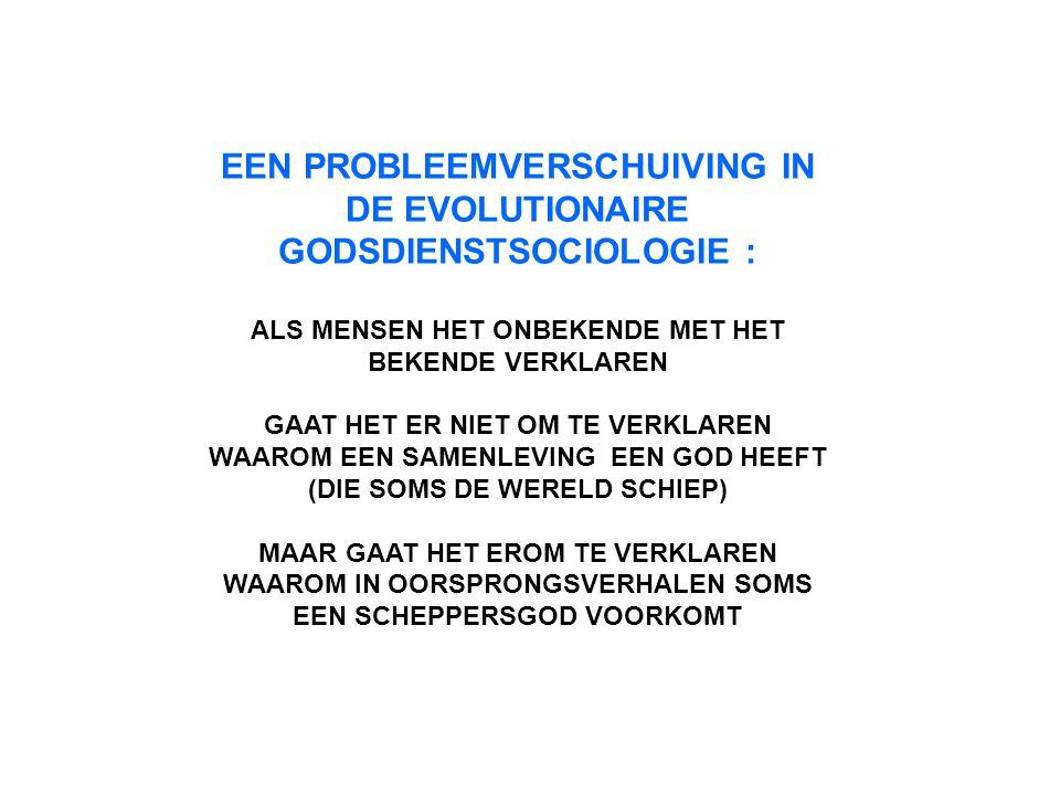 EEN PROBLEEMVERSCHUIVING IN DE EVOLUTIONAIRE GODSDIENSTSOCIOLOGIE :
