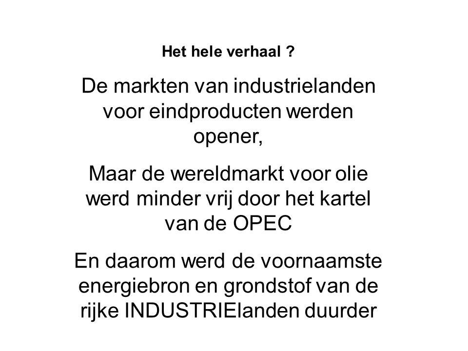 De markten van industrielanden voor eindproducten werden opener,