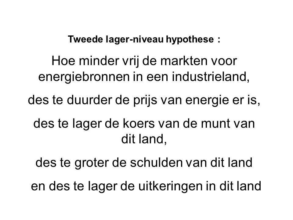 Tweede lager-niveau hypothese :