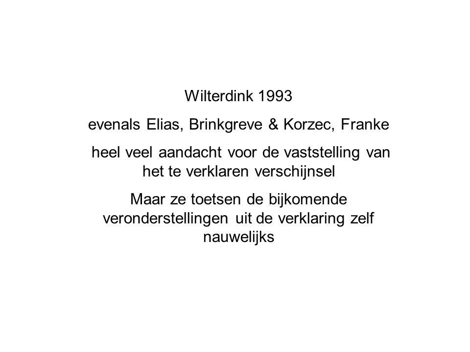 evenals Elias, Brinkgreve & Korzec, Franke