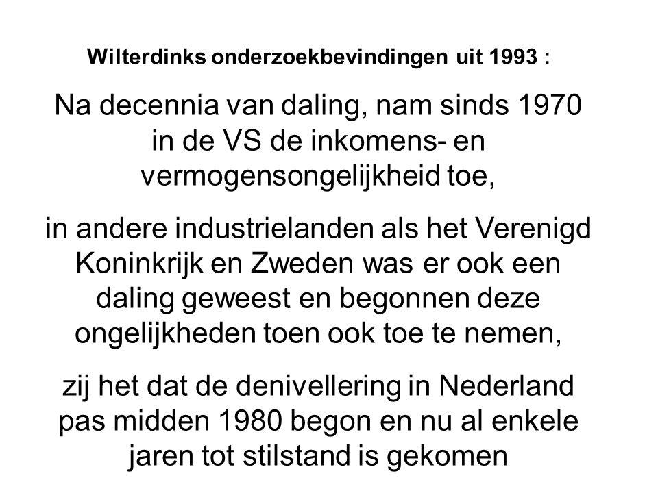 Wilterdinks onderzoekbevindingen uit 1993 :