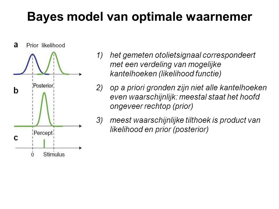 Bayes model van optimale waarnemer