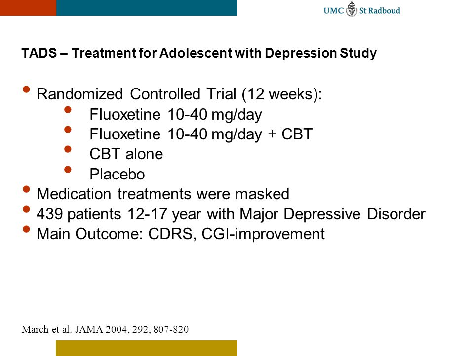 TADS – Treatment for Adolescent with Depression Study