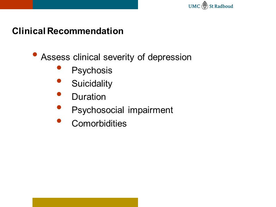 Clinical Recommendation