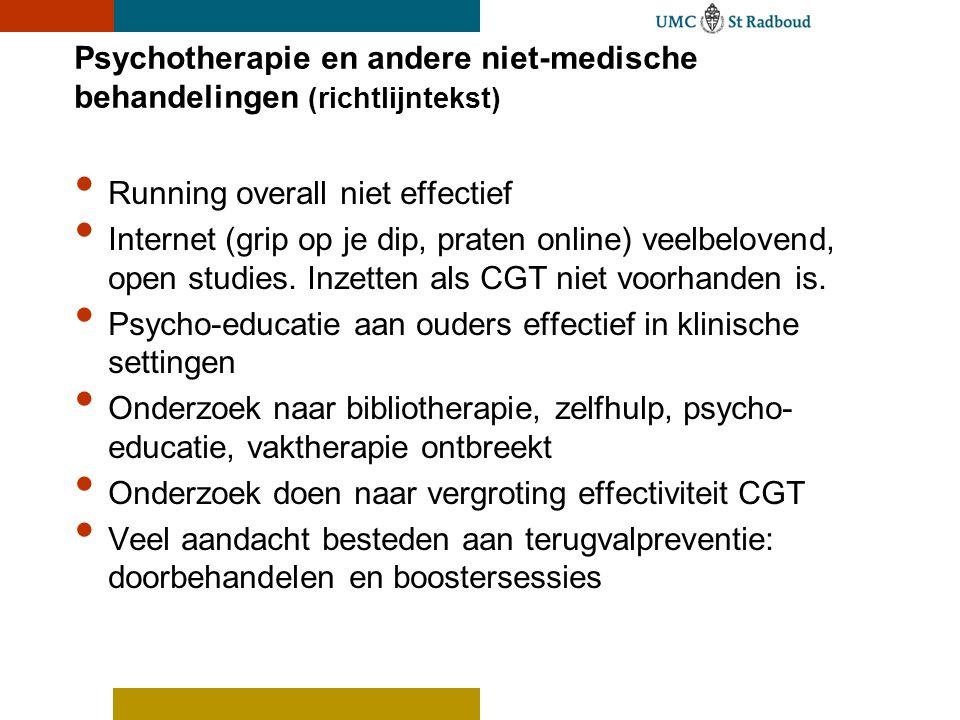 Psychotherapie en andere niet-medische behandelingen (richtlijntekst)