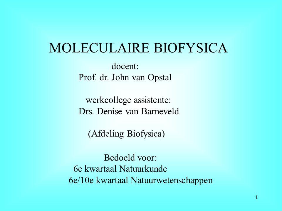 MOLECULAIRE BIOFYSICA