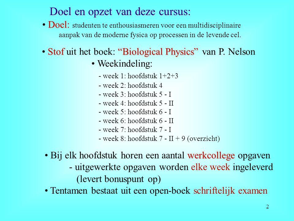 Doel en opzet van deze cursus: