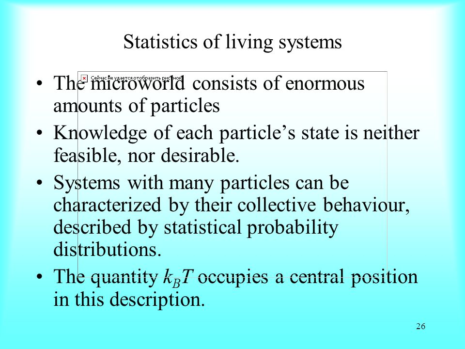 Statistics of living systems
