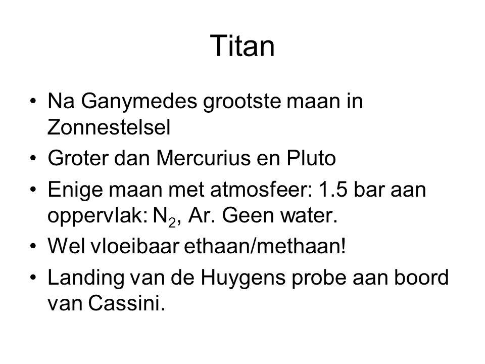 Titan Na Ganymedes grootste maan in Zonnestelsel