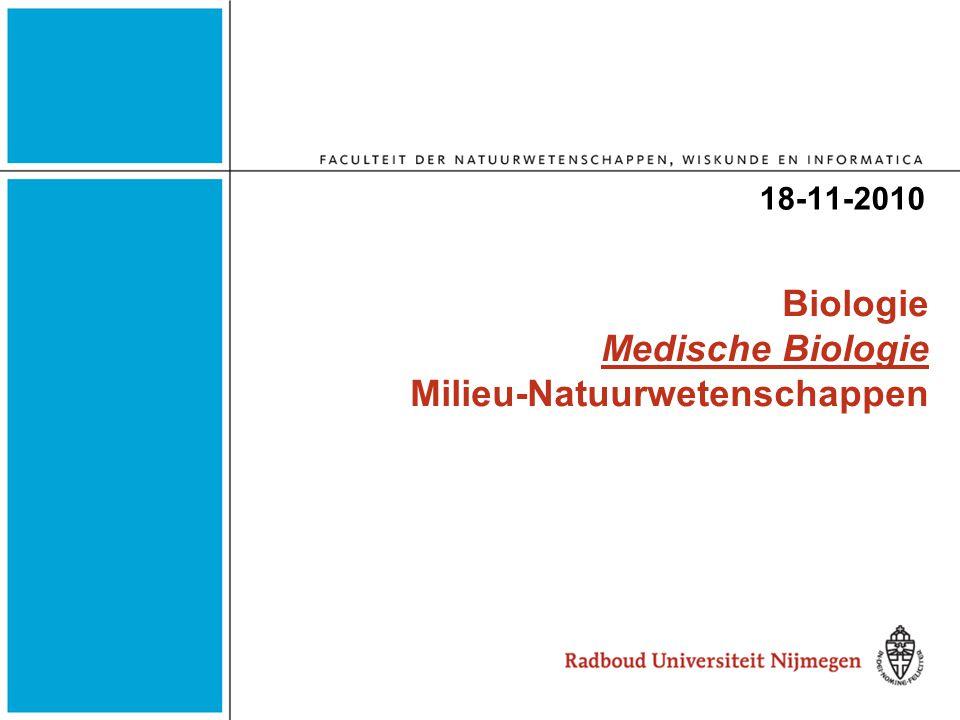 Biologie Medische Biologie Milieu-Natuurwetenschappen