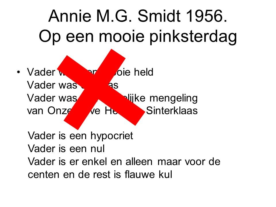 Annie M.G. Smidt 1956. Op een mooie pinksterdag