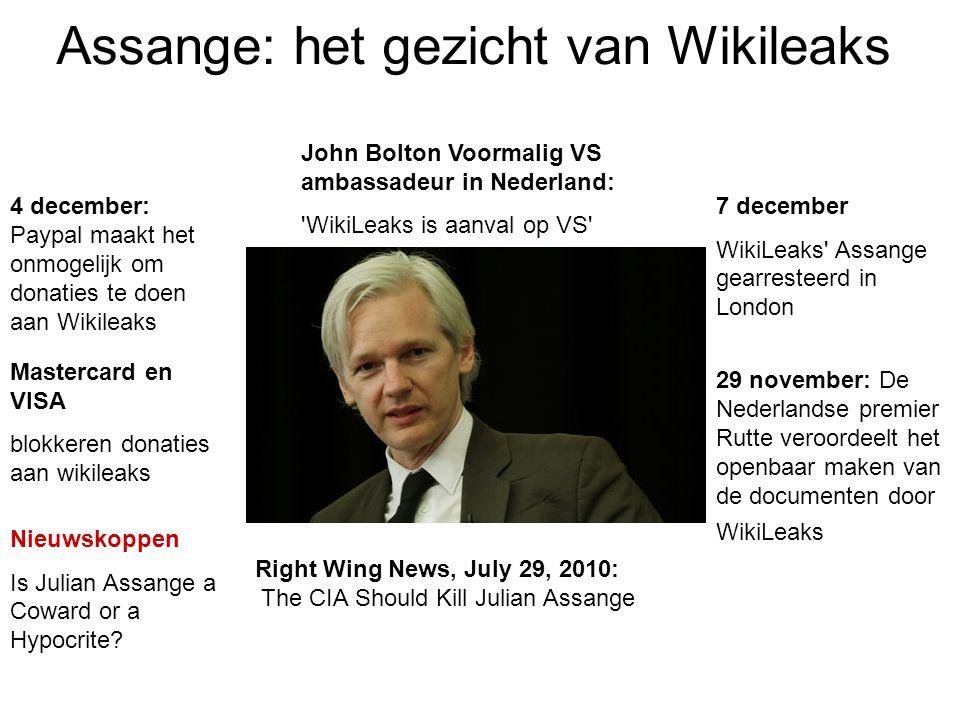 Assange: het gezicht van Wikileaks
