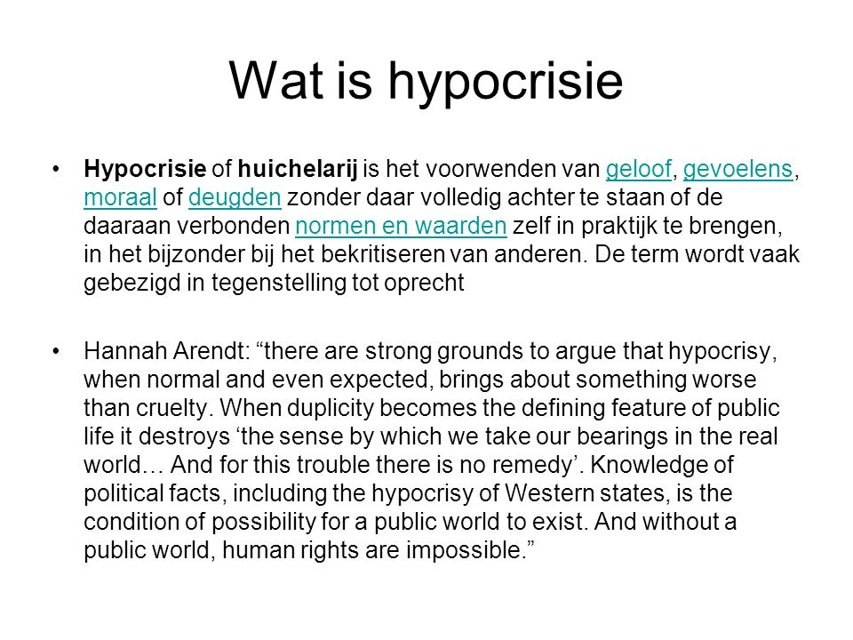 Wat is hypocrisie