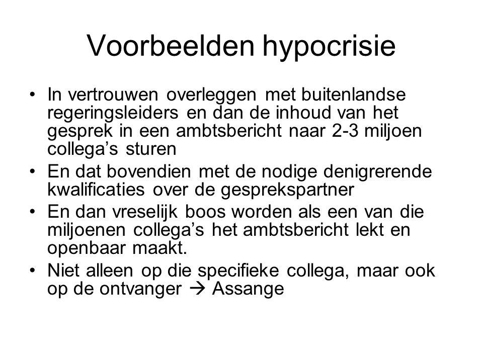 Voorbeelden hypocrisie