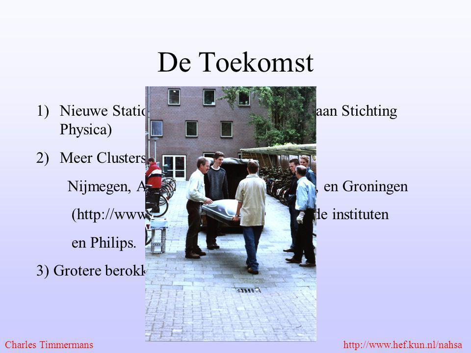 De Toekomst Nieuwe Stations in Nijmegen (met dank aan Stichting Physica) Meer Clusters in Nederland: HISPARC.