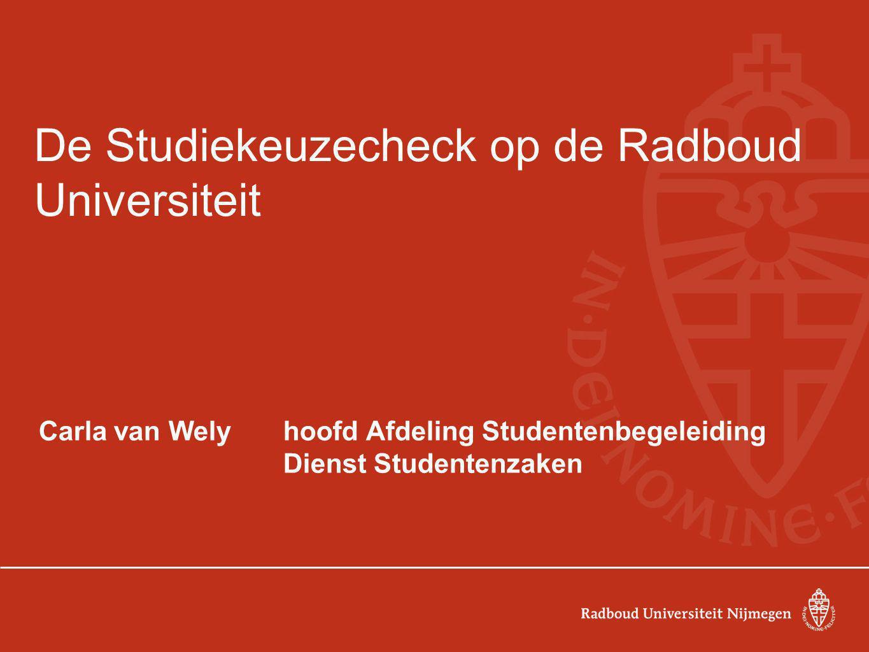 De Studiekeuzecheck op de Radboud Universiteit