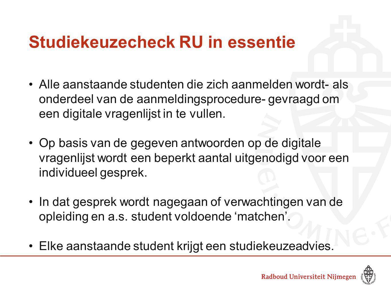 Studiekeuzecheck RU in essentie