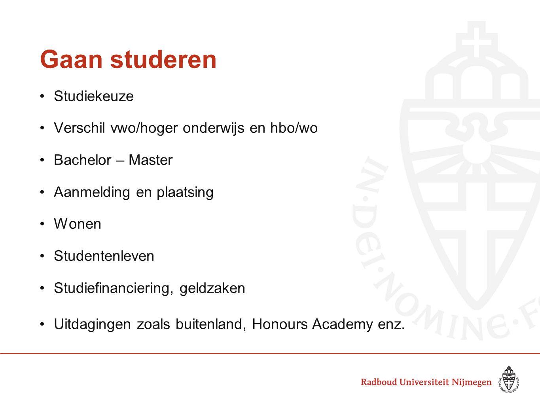 Gaan studeren Studiekeuze Verschil vwo/hoger onderwijs en hbo/wo