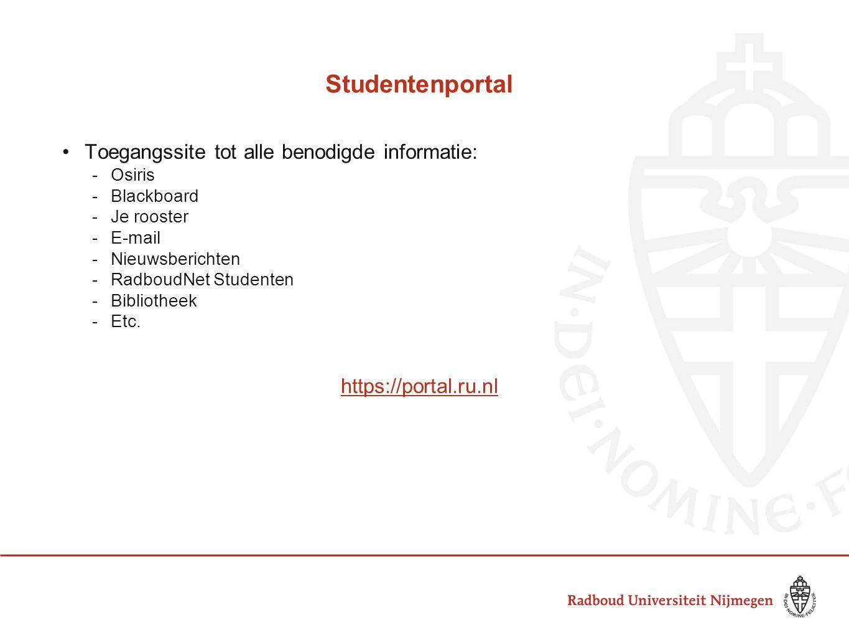 Studentenportal Toegangssite tot alle benodigde informatie: