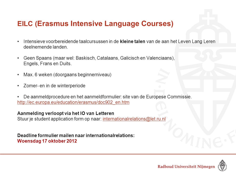 EILC (Erasmus Intensive Language Courses)