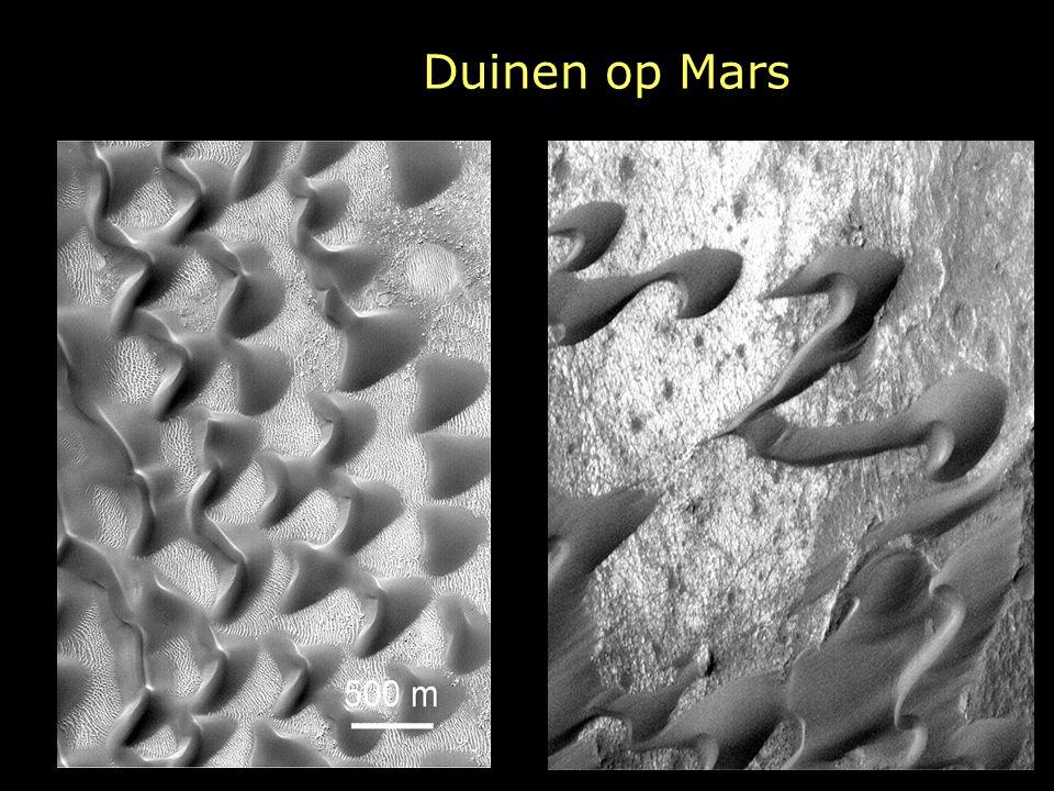 Duinen op Mars Duinen komen veel voor rond de zuidpool. Deze worden barganen genoemd.