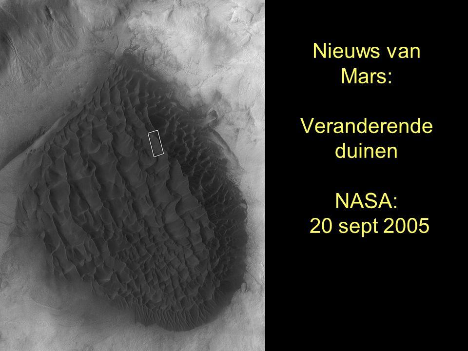 Nieuws van Mars: Veranderende duinen NASA: 20 sept 2005
