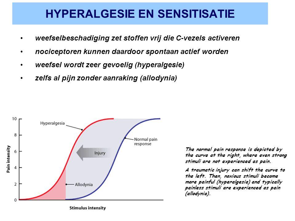 HYPERALGESIE EN SENSITISATIE