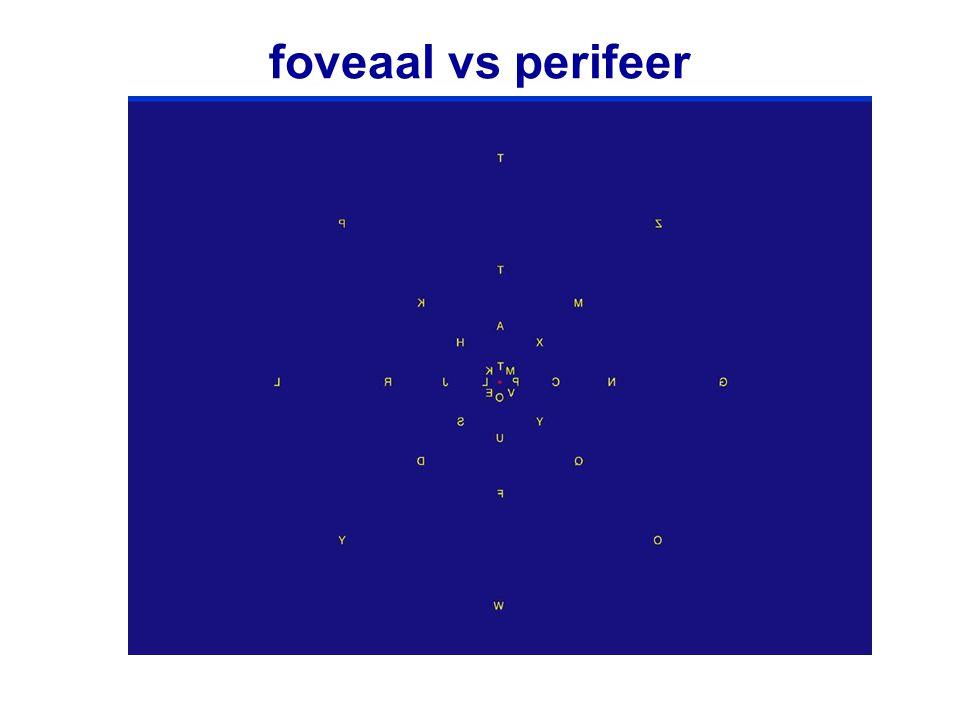 foveaal vs perifeer