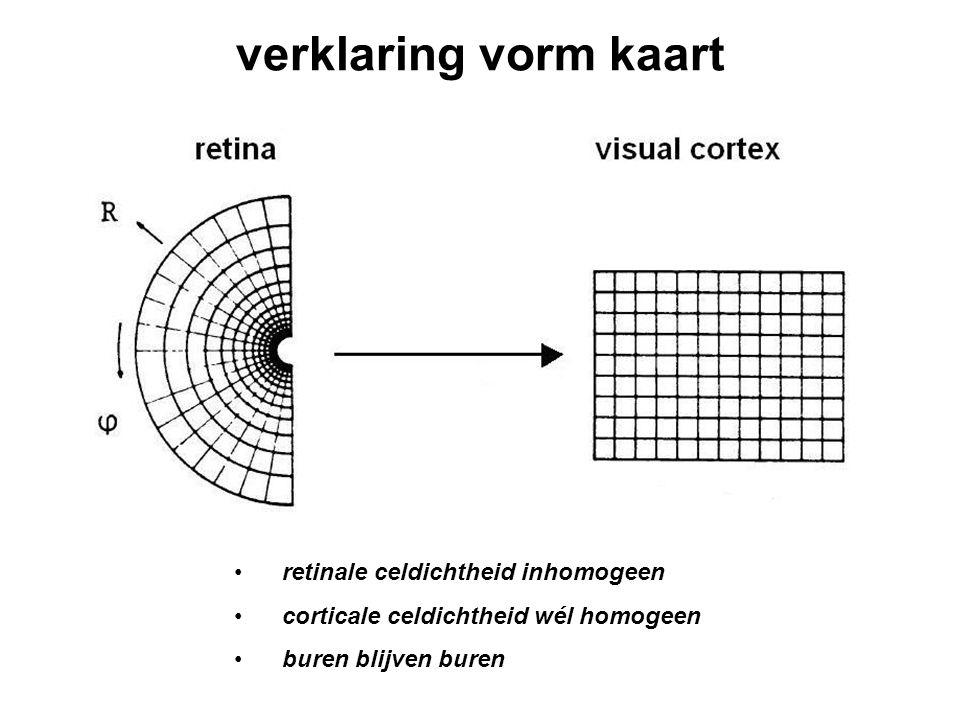 verklaring vorm kaart retinale celdichtheid inhomogeen