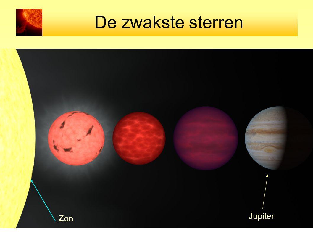 De zwakste sterren Jupiter Zon