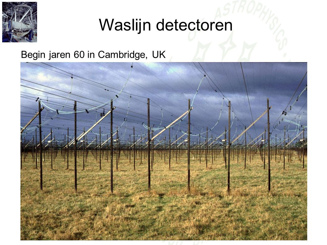 Waslijn detectoren Begin jaren 60 in Cambridge, UK