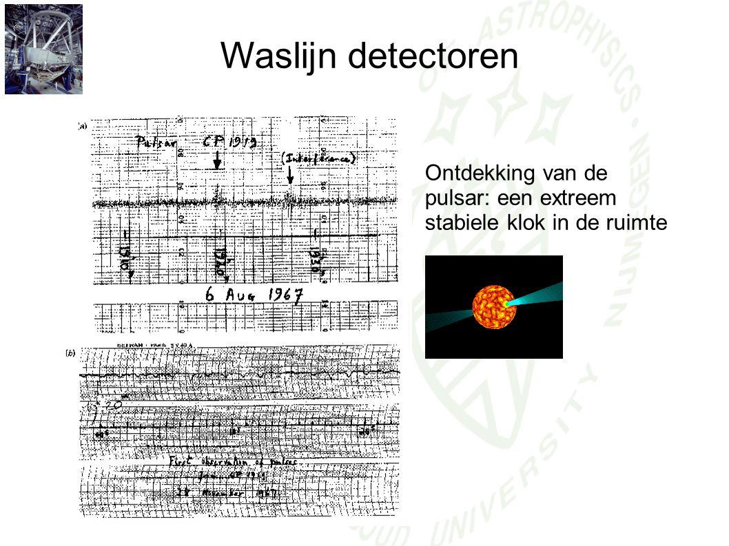 Waslijn detectoren Ontdekking van de pulsar: een extreem