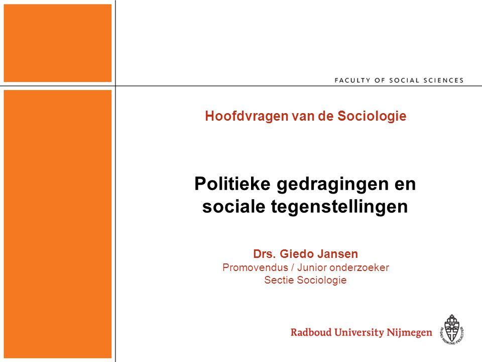 Politieke gedragingen en sociale tegenstellingen