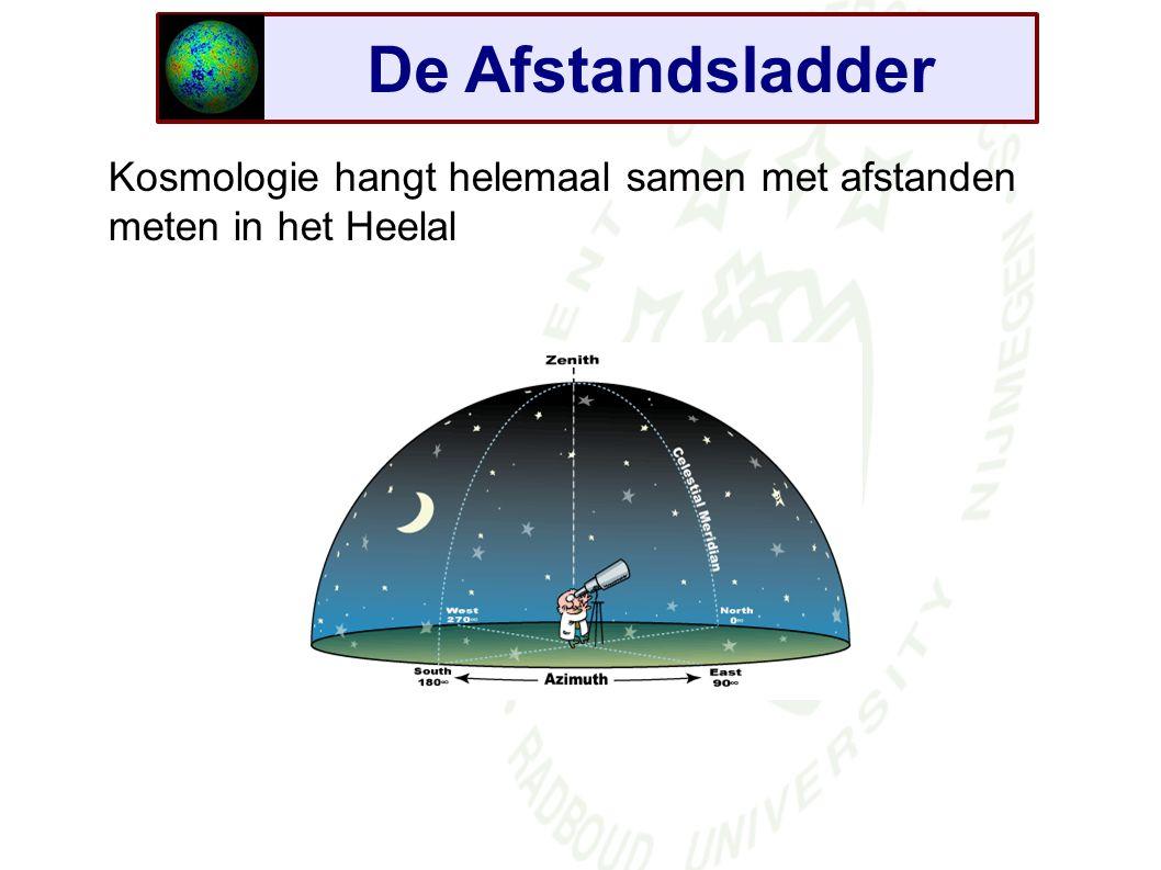 De Afstandsladder Kosmologie hangt helemaal samen met afstanden