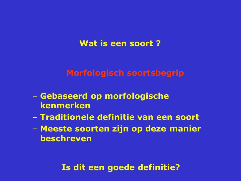 Morfologisch soortsbegrip Is dit een goede definitie