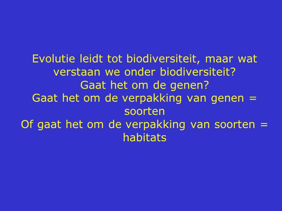 Evolutie leidt tot biodiversiteit, maar wat verstaan we onder biodiversiteit.
