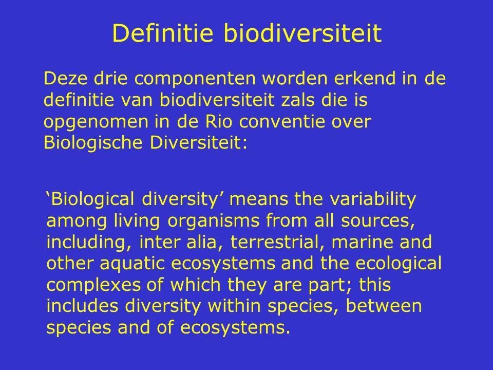 Definitie biodiversiteit