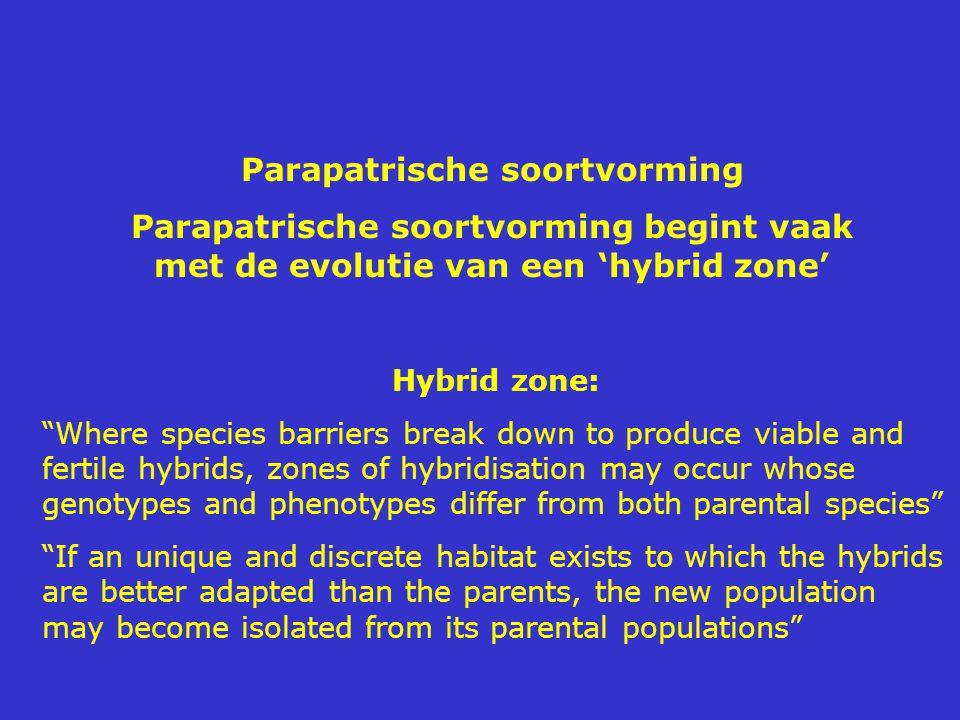 Parapatrische soortvorming