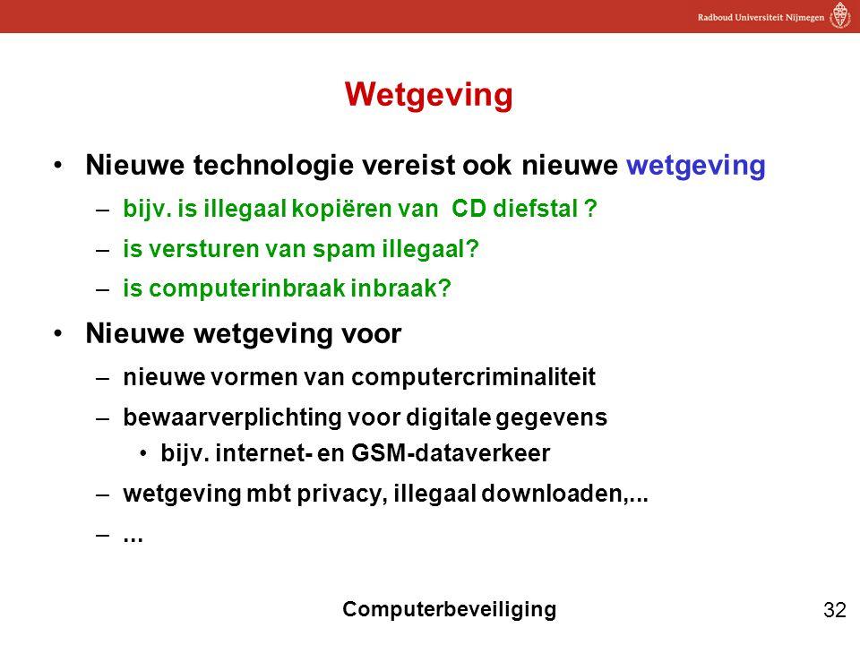 Wetgeving Nieuwe technologie vereist ook nieuwe wetgeving