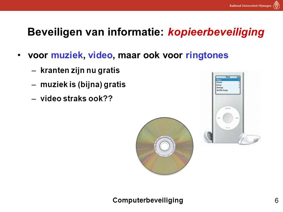 Beveiligen van informatie: kopieerbeveiliging