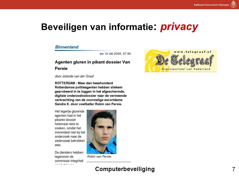 Beveiligen van informatie: privacy