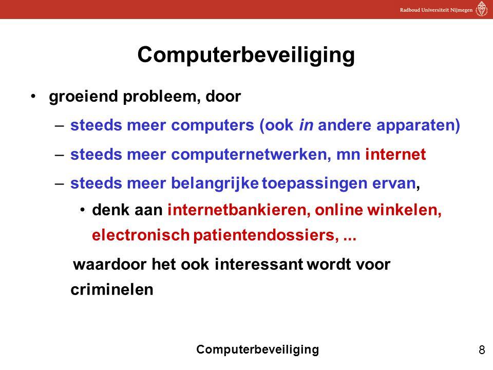 Computerbeveiliging groeiend probleem, door