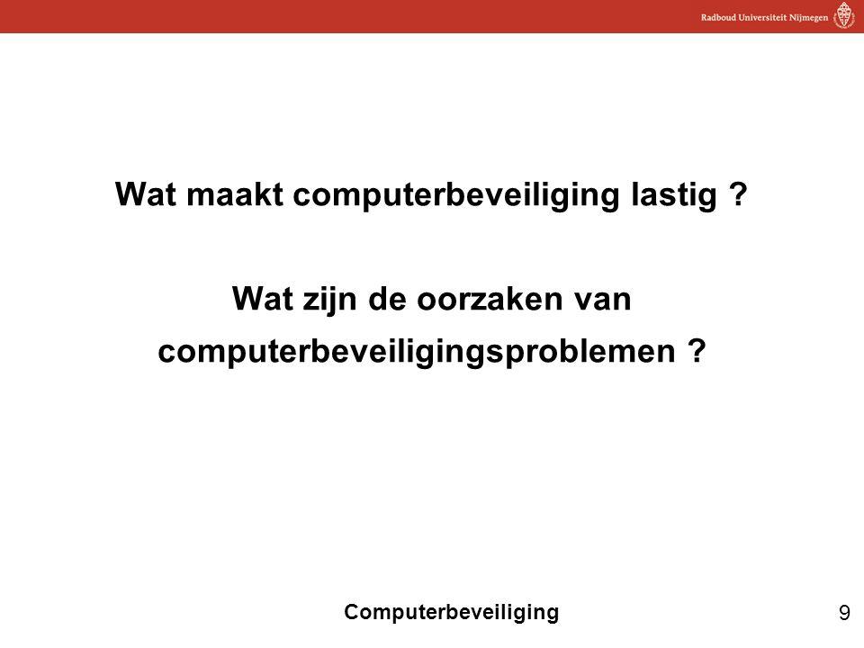 Wat maakt computerbeveiliging lastig