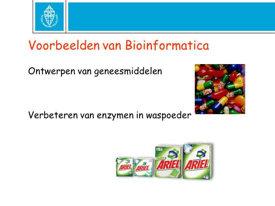 Voorbeelden van Bioinformatica