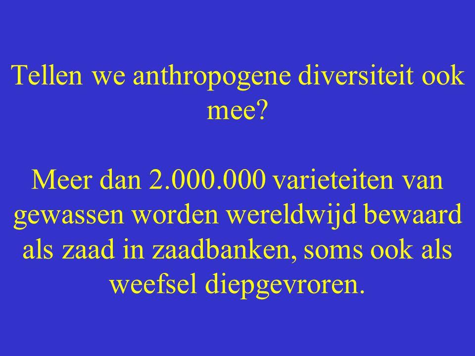 Tellen we anthropogene diversiteit ook mee. Meer dan 2. 000
