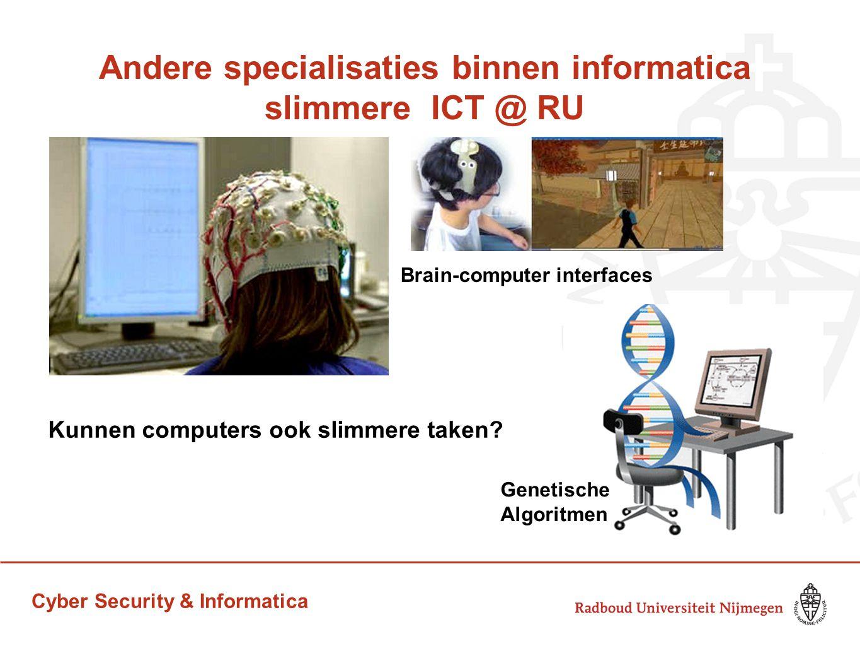 Andere specialisaties binnen informatica slimmere ICT @ RU