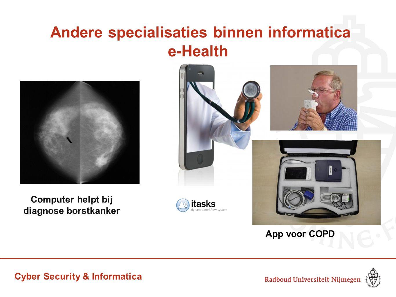 Andere specialisaties binnen informatica e-Health